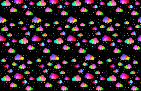 Rainbow Clouds fabric by 80schick on Spoonflower - custom fabric