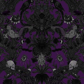 this is halloween! haunted house damask ~ Nightmare