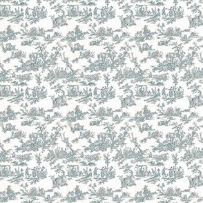 Dollhouse Toile Empire Blue