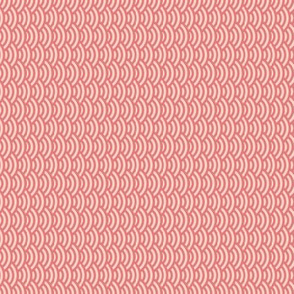 sideways mini scallops in coral