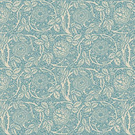 Empire Blue Roses fabric by amyvail on Spoonflower - custom fabric
