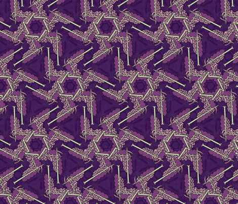 Knitting dream in purple fabric by hannafate on Spoonflower - custom fabric