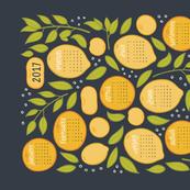 2017 Citrus Tea Towel - Charcoal