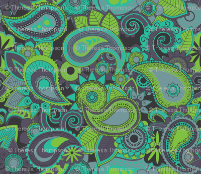Rainforest Paisley