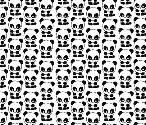 Panda_repeat fabric by sharlenetait on Spoonflower - custom fabric