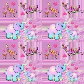 Animal Geometric Pink