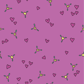 Spring Floral Hearts