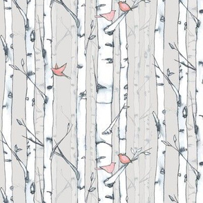 birds and birch coral