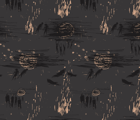 The Watchfires fabric by mariaspeyer on Spoonflower - custom fabric