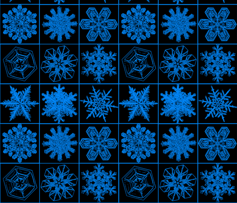 snowflakesblkblue fabric by craftyscientists on Spoonflower - custom fabric