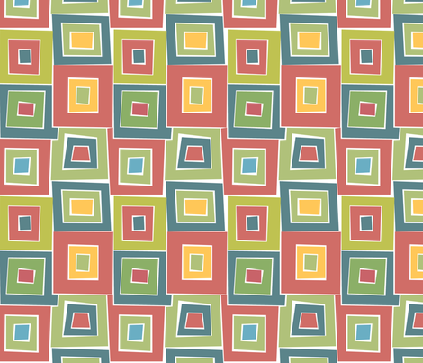 Squares within Squares fabric by ileneavery on Spoonflower - custom fabric