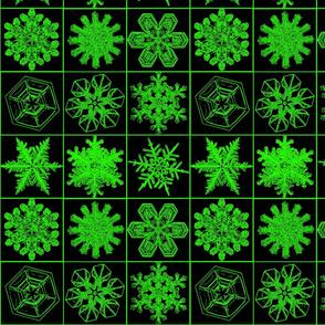 snowflakesblkgreen