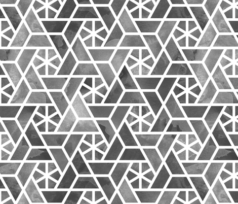 masked ink wash lattice fabric by mongiesama on Spoonflower - custom fabric