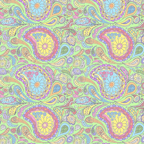 Calendar Paisley co-ordinate pastel
