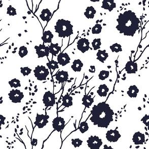 Springtime Indigo monoprint