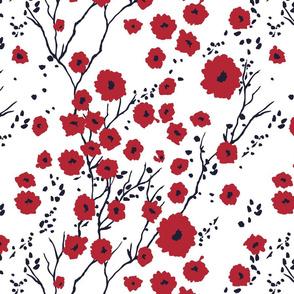 Springtime ruby on white
