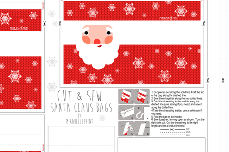 santa claus bag kit fabric by mirabelleprint on Spoonflower - custom fabric