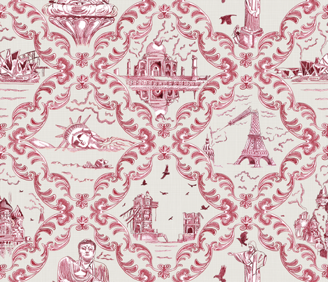 Post-Apocalypic World Toile fabric by juliesfabrics on Spoonflower - custom fabric