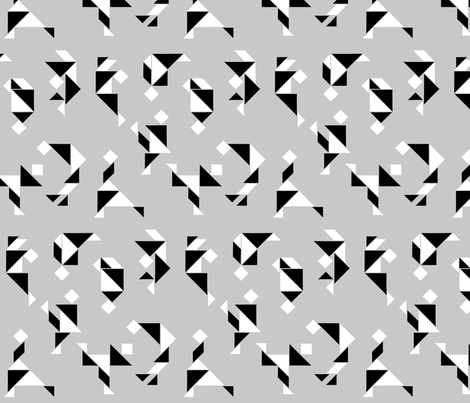 Midlanders in Gray fabric by marion_tzui on Spoonflower - custom fabric