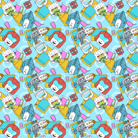 Swerve & Ultra Magnus  fabric by bitterfishies on Spoonflower - custom fabric