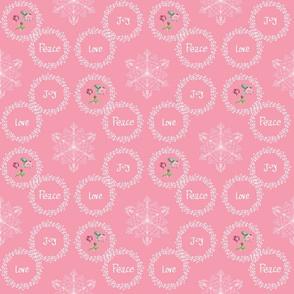 Peace Love Joy - Pink