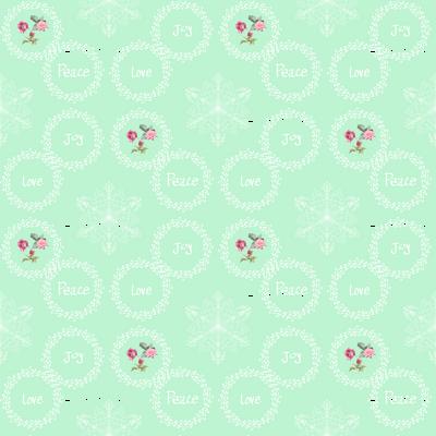 Peace Love Joy - Mint