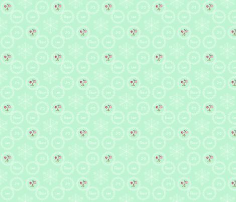 Peace Love Joy - Mint fabric by argenti on Spoonflower - custom fabric
