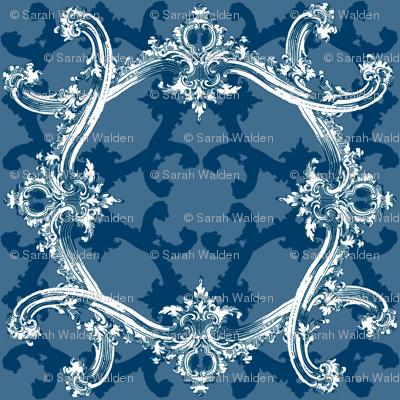 Rococo Swag ~ Agamemnon Blue and White ~ III
