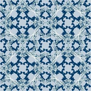 Rococo Swag ~ Agamemnon Blue and White ~ II
