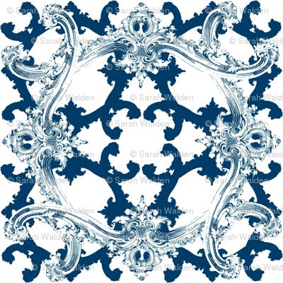 Rococo Swag ~ Agamemnon Blue and White ~ I