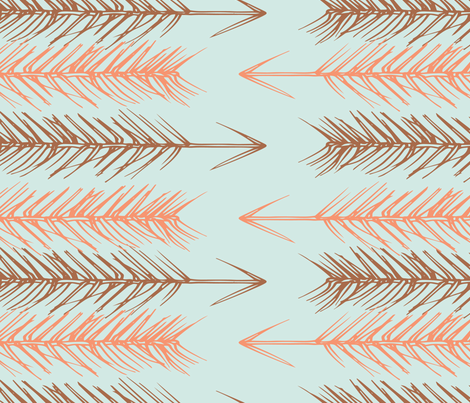 Pine Arrowheads, blue fabric by michellegracedesign on Spoonflower - custom fabric