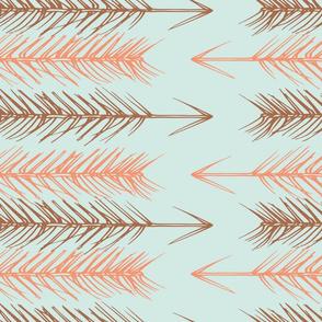 Pine Arrowheads, blue