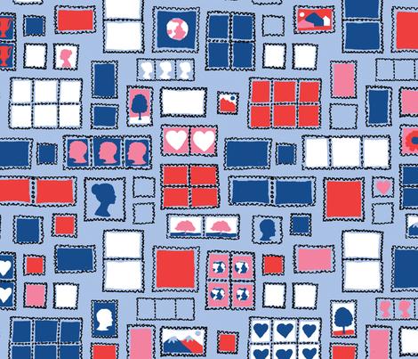 Postage fabric by circlealine on Spoonflower - custom fabric
