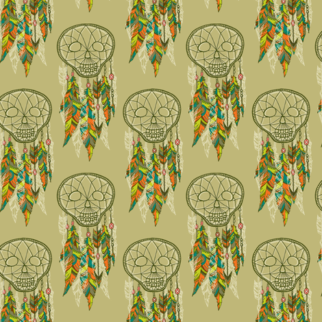 skelly dream catchers fabric by skellychic on Spoonflower - custom fabric