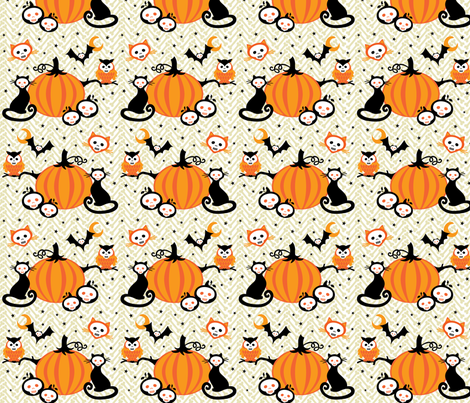 halloween! fabric by skellychic on Spoonflower - custom fabric