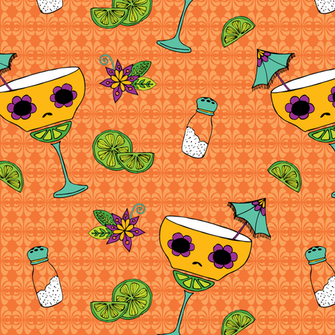 skelly margaritas fabric by skellychic on Spoonflower - custom fabric
