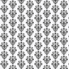 Spooky White & Black Damask