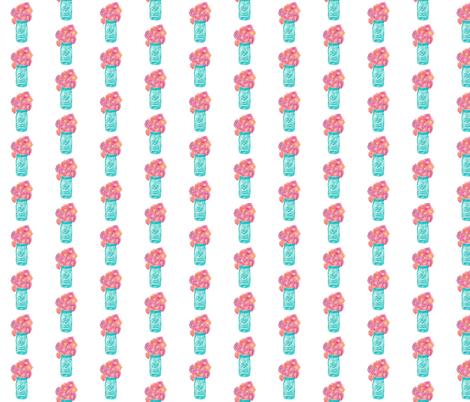 Watercolor Mason Jar Pattern fabric - alchemyhome - Spoonflower
