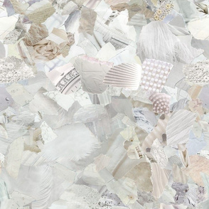Ripped Paper White