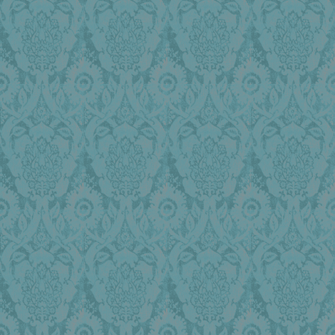 Acorn Empire Blue Brocade fabric by amyvail on Spoonflower - custom fabric
