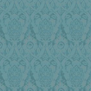 Acorn Empire Blue Brocade