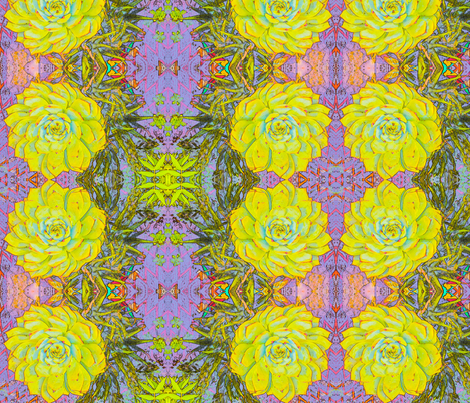 Green cactus # 2 Art Nouveau fabric by ciswee on Spoonflower - custom fabric