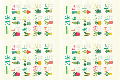 Colorful Cacti fabric by emilyannstudio on Spoonflower - custom fabric