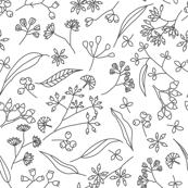 Gum Doodles - Grey on White