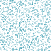 Gum Doodles Small Scale - Teal on White