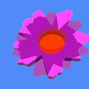 *LTJW Flower on Bluebird (fat quarter)