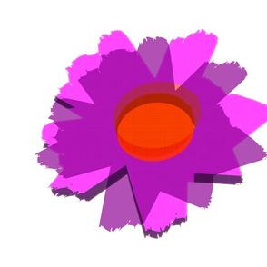 *LTJW Flower on Cloud White (fat quarter)