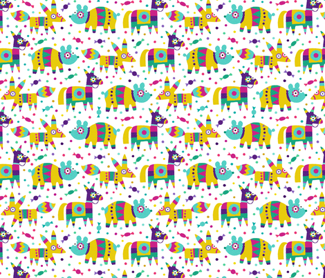 Pinatas fiesta fabric by heleen_vd_thillart on Spoonflower - custom fabric