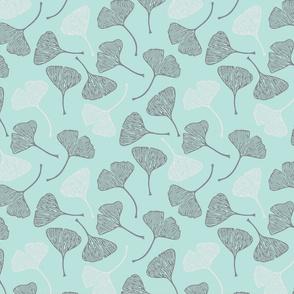 Ginkgo Seafoam Gray