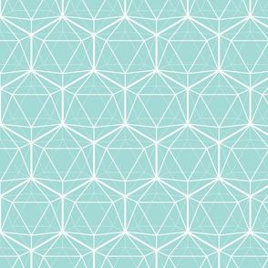 Icosahedron Seafoam White